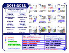 2011-2012 Alternatives For Children School Calendar