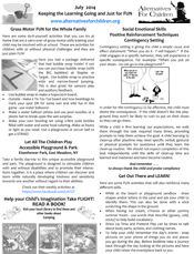 July 2014 home activity flyer